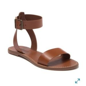Madewell The Boardwalk Ankle Strap Sandals 9